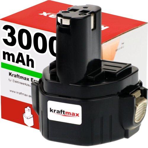 Akku für MAKITA Bohrschrauber 6317D - 12V / 3000mAh / Ni-MH - Profiqualität mit frischen Panasonic-Zellen