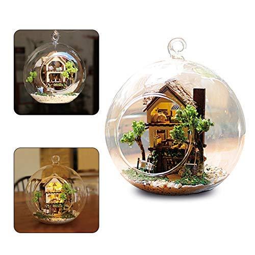 Jeffergarden DIY Handwerk Puppenhaus Kit Miniatur Vergnügungspark Modell mit Staubschutz Geschenk Geburtstagsgeschenke für Jugendliche