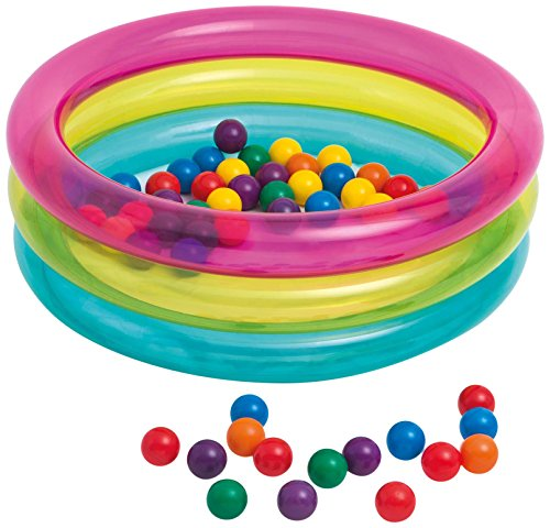 Intex 48674NP - Piscina de bolas hinchable con 50 bolas de colores