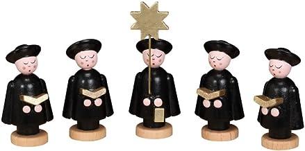 Kurrendefiguren 3er Satz schwarz Höhe ca3,5 cm NEU Miniaturen Figuren Erzgebirge