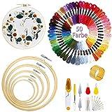 JuguHoovi Stickerei Set,Stickerei Starter Kit Kreuzstich Stricken Kreuzstich Tool Kit Sticken Set...