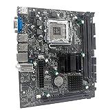 Libartly Placa Base para Computadora G41 M-ATX Ddr3 con Placa Base Integrada Graphy De Doble Canal 8G USB 2.0 Sata para CPU Lga775 / 771 - Negro 210X167Mm
