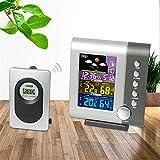 GUOOK Moderne Wetterüberwachung Uhren Wetterstationen Drahtlose Bunte LCD-Anzeige Indoor Outdoor Thermometer Hygrometer Wetterstation Uhr Mit Adapter