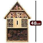 Deuba XXL Insect hotel 48cm Natural Wood Nest Box Nesting Habitat Bees Butterflies Ladybugs
