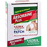 Absorbine Jr. Ultra Strength Pain Relief Patch with Menthol | for Shoulder, Joint, Hip and Neck Pain | Lasts Up to 8 Hours | 18 Count