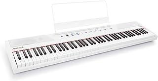 Alesis Recital White - Piano Numérique de Couleur Blanche avec Un Clavier de 88 Touches Semi-lestées de Taille Authentique...