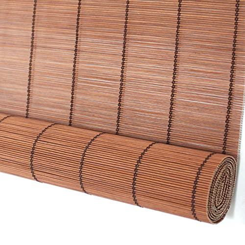 ZH-VBC Persianas Enrollables de Bambú, Cortinas Privacidad Protección, Toldos para Sol para Pérgola/Exteriores Naturales, 85cm / 100cm / 125cm / 150cm Ancho,W85xH130cm
