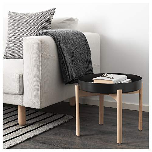IKEA Ypperlig Couchtisch, dunkelgrau, Birke