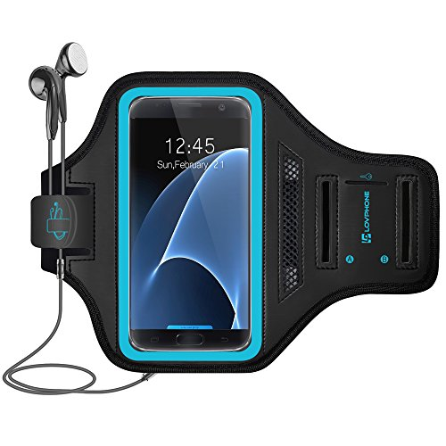 Galaxy S7 Armband - LOVPHONE Easy Fitting Sport Running Exercise Gym Sportband with Key Holder & Card Slot,Water Resistant and Sweat-Proof for Samsung Galaxy S7 2016 Release.-Gray