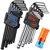 REXBETI Hex Key Allen Wrench Set, SAE Metric Long Arm Ball End Hex Key Set Tools, Industrial Grade,...