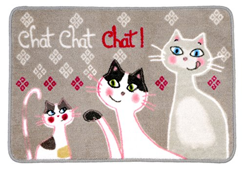 Fox Trot Tapis en Acrylique, Polyester, Chat, 80 x 150 cm