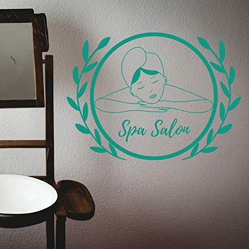 ASFGA Schöne Gesichts Thai Massage Wandaufkleber Abziehbilder Spa Aufkleber Spa Entspannung Massage Raum Wanddekoration Schönheitssalon Dekoration Schaben 76x57cm