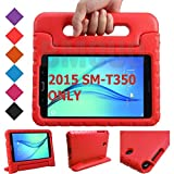 BMOUO Kids Case for Samsung Galaxy Tab A 8.0 (2015) SM-T350 - EVA ShockProof Case Light Weight Kids Case Super Protection Cover Handle Stand Case for Kids Children for Samsung TabA 8-inch Tablet - Red