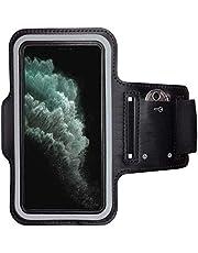 CoverKingz Armtas voor Apple iPhone SE [2020] sportarmband met sleutelvak, looparmband fitness, mobiele telefoon armband zwart