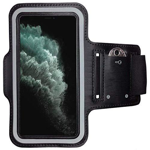 CoverKingz Armtasche für Apple iPhone 11 Pro Max (6,5 Zoll) Sportarmband mit Schlüsselfach, Laufarmband Fitness, Handy Armband Schwarz