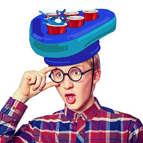 LOL lo Pong Hut Game Set Aufblasbares Pong Spiel Set Bierhüte Wurfspiele Spaß Rasen Spielzeug Erwachsene Kinder