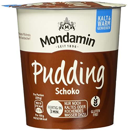 Mondamin Pudding mit Schokoladengeschmack im Snackbecher (glutenfrei und vegetarisch) 8er Pack (8 x 54 g)