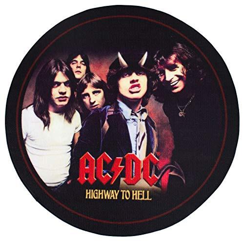 Geschenktrends Rockbites – Alfombra redonda AC/DC Highway to Hell, 100 cm – Alfombra para sala de muestras, estudio de tono