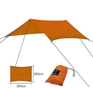 Portable Lightweight Camping Tent Tarp Shelter Hammock Cover Sun Shade Beach Picnic Mat Include Stakes and Carry Bag