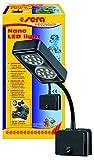 Sera 31067 Nano LED Light 2 x 2 W una lámpara LED (4 W/12 V, intensidad regulable) con reflector delgado para la iluminación de acuarios Nano como el sera Cube 16 L