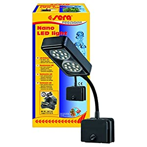 Sera 31067 Nano LED Light 2 x 2 W LED Light (4 W/12 V, Fully Dimmable) with Slim Reflector for Lighting Nano Aquariums…