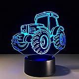 Wangzj Excavator Giant Shovel Tractor Cement Mixer Hoisting Vehicle Truck 3D Led Lamp Kids Night Light Truck...