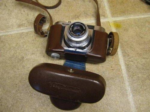 Voigtlander Vito B 35mm Rangefinder Vintage Camera Skoper Lens Case Brown Vtg