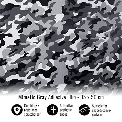 4R Quattroerre.it 16313 Klebefolie Film graue Tarnung für Carwrapping, 35 x 50 cm, Camo