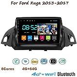Android 8.1 GPS Navigation Stereo Radio, para Ford Kuga 2013-2017, 9' 1080P Pantalla Táctil Completa Reproductor Multimedia, Enlace Espejo Control Volante Bluetooth Hand-Free,8Cores:4G+WiFi4G+64G