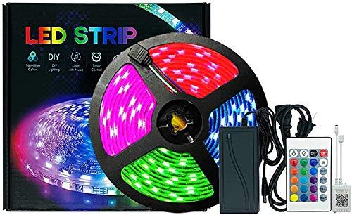 Luces de tiras LED impermeables 5m, TV remotas LED retroiluminación Bluetooth Music Sync 5050RGB Color Cambiando la tira de iluminación con luces de la cuerda de control de la aplicación para la cocin