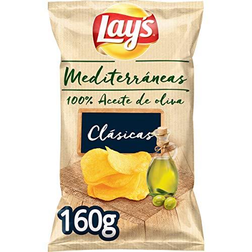 Lay's - Mediterráneas, Patatas Fritas, 100% Aceite de Oliva - 160 gr