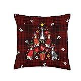 Italian Greyhound Gift Cute Christmas Italian Greyhound Christmas Ornament Tree Dog Funny Gift Throw Pillow, 16x16, Multicolor
