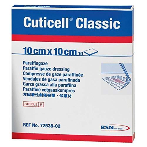 BSN Medical Cuticell Classic Gaze-Kompresse, Paraffin, 10 x 10 cm, 5 Stück