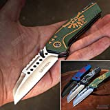 KCCEDGE BEST CUTLERY SOURCE EDC Pocket Knife Camping Accessories Hunting Knife Razor Sharp Edge Folding Knife for Camping Gear Survival Kit Tactical Knife 56003 (Green)