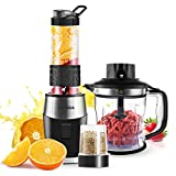FOCHEA 3 In 1 Blender and Food Processor Combo,Smoothie Shake Blender,700W High-Speed Mixer...