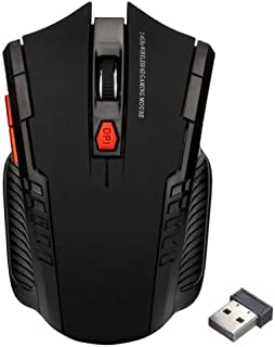 2.4Ghz Mini Wireless Optical Gaming Mouse Mice& USB Receiver for Pc Laptop - Black