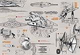 Komar Póster de Disney Star Wars – Blueprints – Medidas 368 x 254 cm – 8 Telas