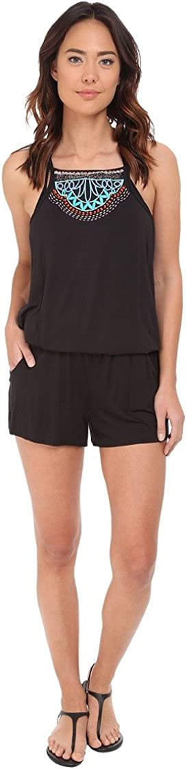 Nanette Lepore Women's Mantra Embroidered Romper Cover Up
