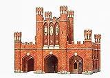 Puzzle 3D 362 Königstor Kaliningrad Serie Arcos y puertas del mundo de cartón modelo de papel modelo de regalo para niños de 69 piezas