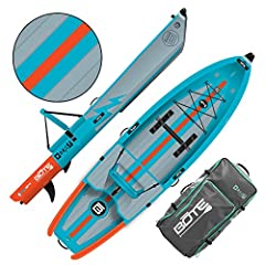 CONVERTIBLE KAYAK & PADDLE BOARD: Can't decide between a kayak and paddle board? With a removable top chamber it converts from kayak to SUP almost instantly. Enjoy the best of both worlds! INFLATABLE & PORTABLE: Constructed with AeroUltraTechnology t...