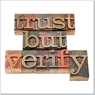Barewalls Trust But Verify Phrase Paper Print Wall Art (20in. x 20in.)