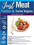 JUST VEGAN - TROCITOS DE CARNE VEGANO 200g| 100% VEGETALES | Sin carne | Plant Based | Sin Gluten