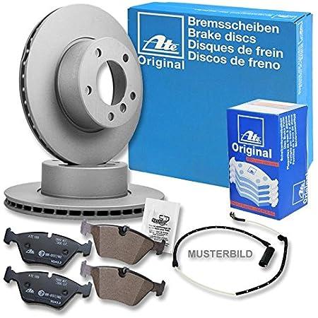 Original Ate Bremsscheiben BremsbelÄge BremsklÖtze Warnkontakt Bremsenset Bremsenkit Bremsen Set Ø296 Vorne Vorderachse Auto