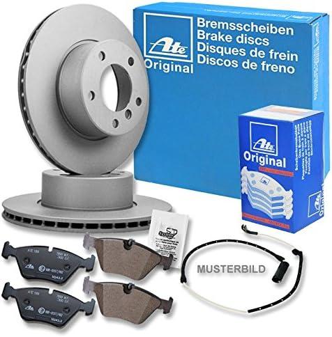 Bremsbeläge Hinten für AUDI Bremsensatz, ATE2 Bremsscheiben Voll 300 mm