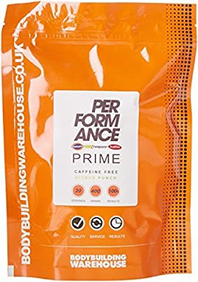 Bodybuilding Warehouse Performance Prime Caffeine Free Pre Workout Powder from Bodybuilding Warehouse