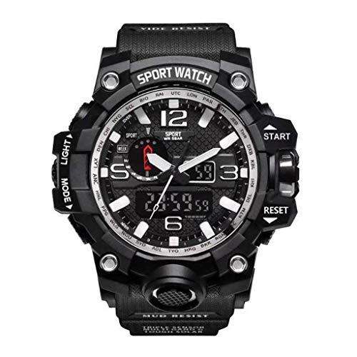 HBR Reloj Impermeable Deportes Inteligente Reloj multifunción Reloj de los Hombres Impermeable Reloj cronógrafo Deportivo Negro Accesorios de Moda