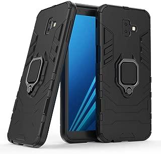 DWAYBOX Galaxy J6 Plus Case Ring Holder Iron Man Design 2 in 1 Hybrid Heavy Duty Armor Hard Back Case Cover for Samsung Galaxy J6 Plus/J6 Prime 2018 6.0 Inch (Black)