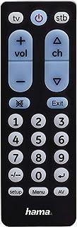 Hama 00040072 IR Funktasten Schwarz Fernbedienung   IR Funkfernbedienung (TV, STB, universal, schwarz, Kunststoff, Tasten)