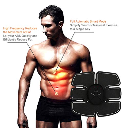 ZIAS ABS Stickers Pad Fitness Gym Slimming muscular machine Massager6 pack EMS Wireless Abdominal Stimulator Muscles Exercise Trainer Smart Weight Loss Body Tummy Flatter, Slimming belt
