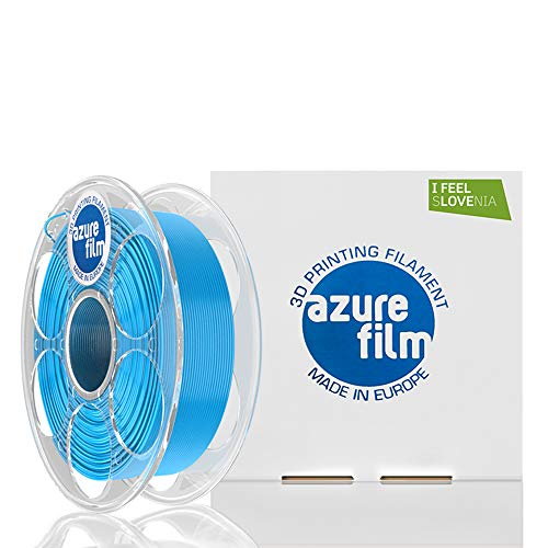 AZUREFILM PETG 3D Professional Printer Filament 1.75 mm - Must Have Printing Accessories for Bringing Your Ideas to Life - High Dimensional Accuracy +/- 0.02 mm, 1 kg Spool, Blue - No Bubbles or Jams